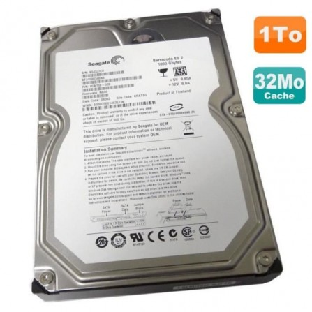 "Disque Dur 1To 3.5"" SATA Seagate Barracuda - (ST31000340NS)"