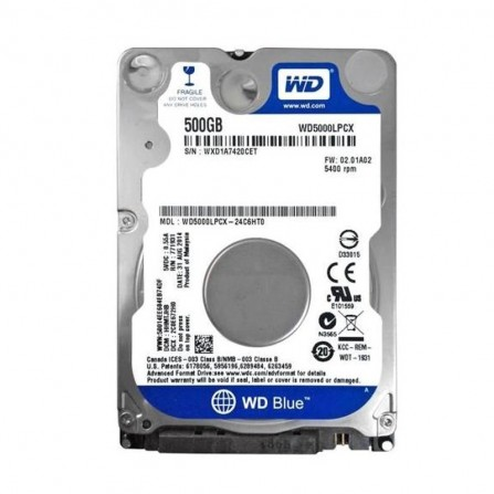 """Disque Dur pour portable 500Go 2.5"""" SATA Western Digital  - (WD5000LPCX)"""