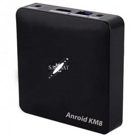 Box Android Samsat KM8 + 12 mois IPTV + VOD + Netflix