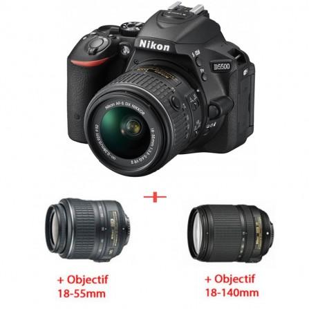 Pack Nikon D5500+OBJECTIF 18-55 MM + OBJECTIF 18-140 MM