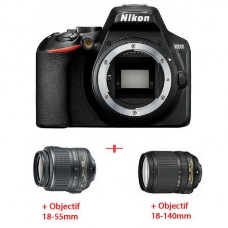 Pack Nikon D3500 BOD +OBJECTIF 18-55 MM + OBJECTIF 18-140 MM (4960759900678)