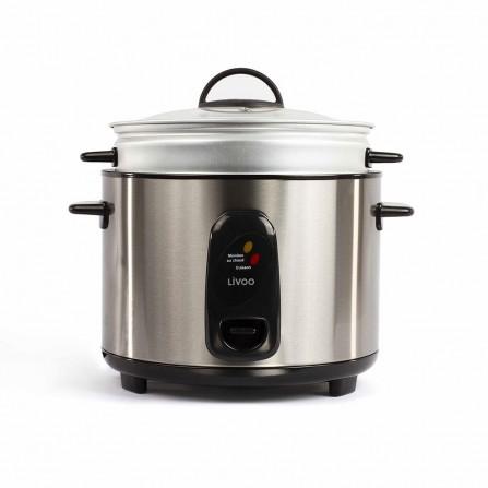 Cuiseur à riz et vapeur Livoo 1000 Watt 2,8L - Inox et Noir (DOC192)