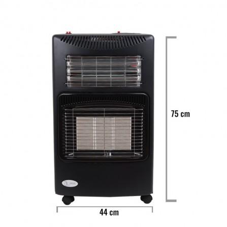 Chauffage à gaz combiné COALA 4200 Watts - Noir (RGC-Combine)