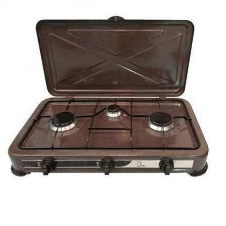 Plaque de cuisson COALA 3 Feux - Marron (RC3 F)