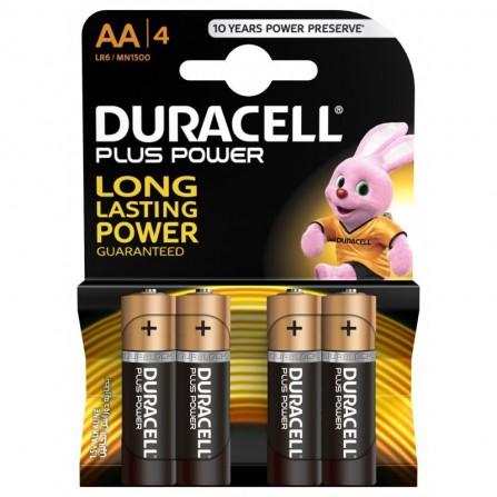 4x Piles Duracell Plus Power AA
