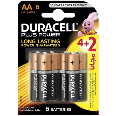 6x Piles Duracell Ultra Power AA