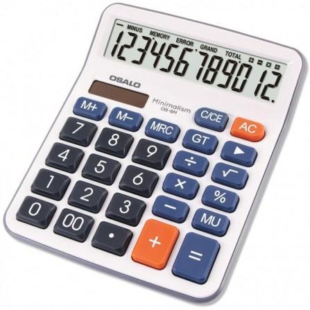 Calculatrice de bureau OSALO 12 chiffres  -(OS- 6M)