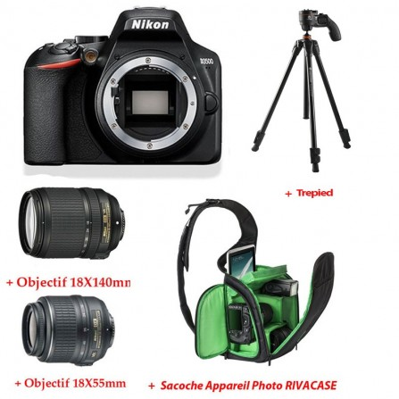 Appareil Photo NIKON D3500 + 2 Objectifs +Sacoche+Trépied