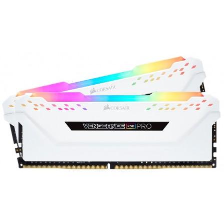 Barette Mémoire Corsair PC 2X8G RGB DDR4 3200 PC25600 -  (CMW16GX4M2C3200C16w)