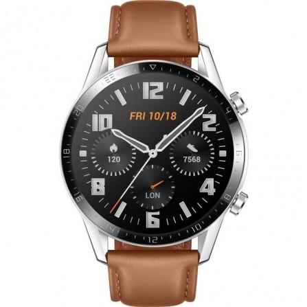 Montre Connectée Huawei Watch GT2 -brown -Bracelet Cuir (LTN-B19)