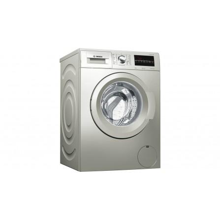 Machine à laver BOSCH SÉRIE 4 front 8 kg 1200 trs, argent inox (WAK2428SEG)