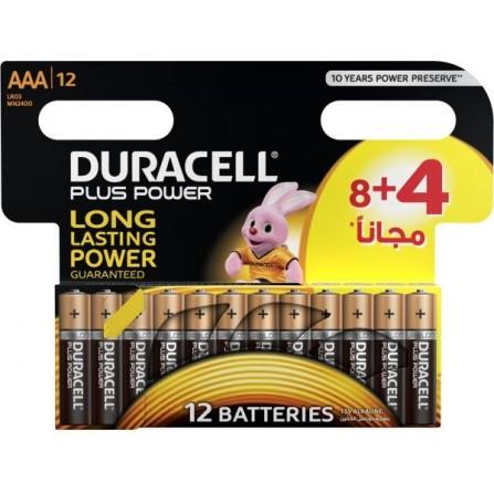 8x Piles Duracell AAA Plus Power + 4 piles Offertes (5000394127500)
