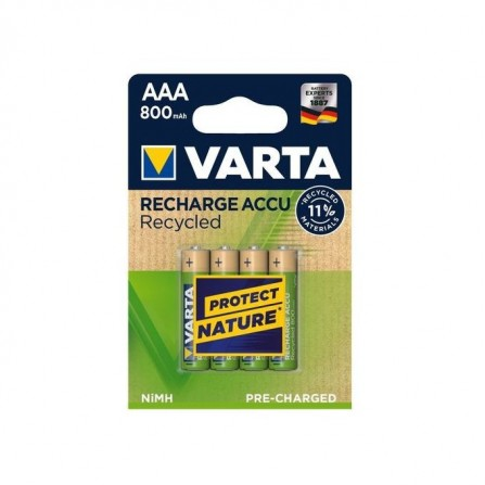 VARTA Pack 4 piles rechrageables - AAA - 800 mAh - 1.2v - Its (400846931545)