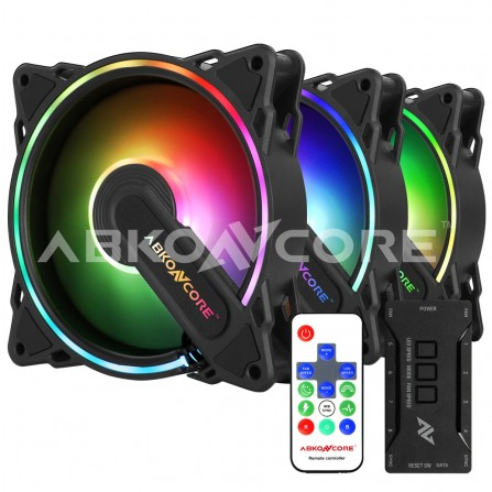 Ventilateur  ABKONCORE HR120 SPECTRUM SYNC 3IN1 FANS (HR120)