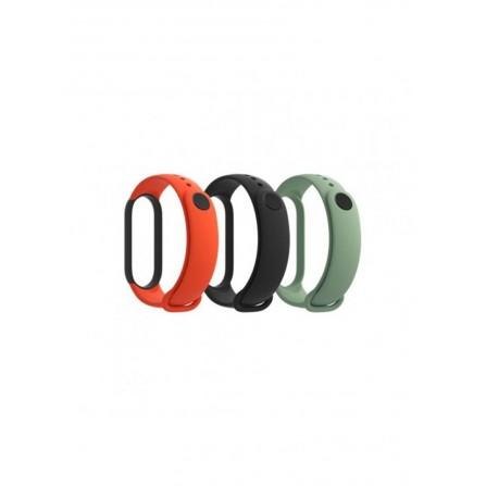 Bracelet Montre connectée Xiaomi Mi Band 5 Strap (3-Pack) Black/Orange/Teal (29764)