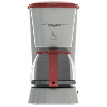 Cafetière électrique - Techwood - 6 tasses  - 750 ml -  blanc & Rouge(TCA-685)