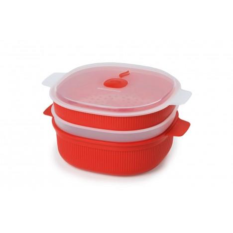 Cuiseur à Micro-Ondes, Micro Vapeur 4 L - Rouge (SNPL21329)