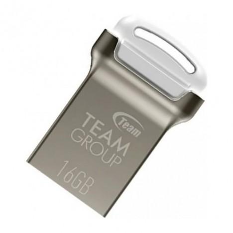 Clé USB 2.0 TeamGroup C161 - 16 Go - Silver/Blanc (TC16116GW01)