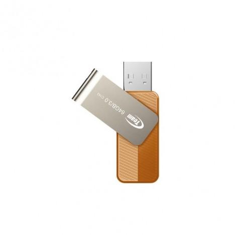 Clé USB TeamGroup C143 64 Go - USB 3.0 - Orange (TC143364GN01)