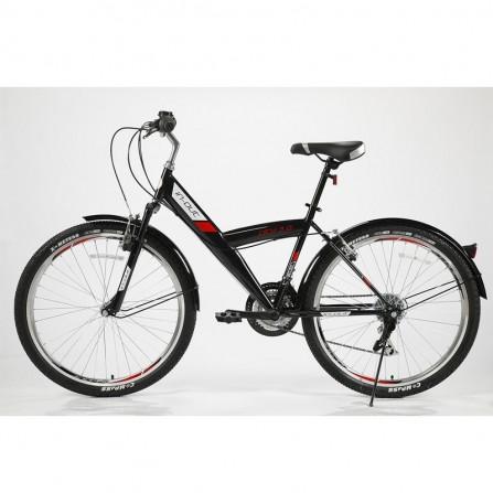 """Vélo de Ville IN-OUT City 26"""" 3.0 - Zimota - Noir (10026003)"""
