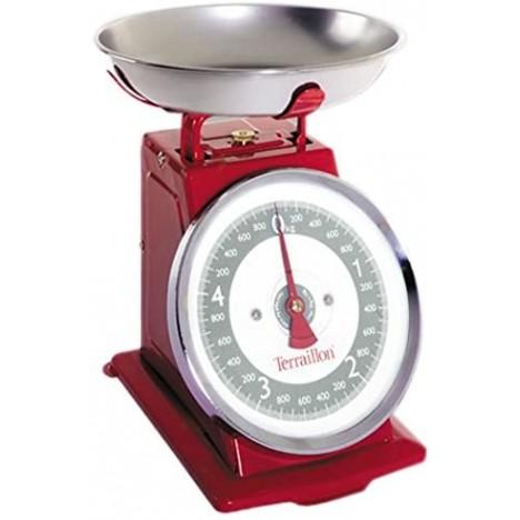 Balance de Cuisine Mécanique Tradition 500 - TERRAILLON - Rouge (14476)
