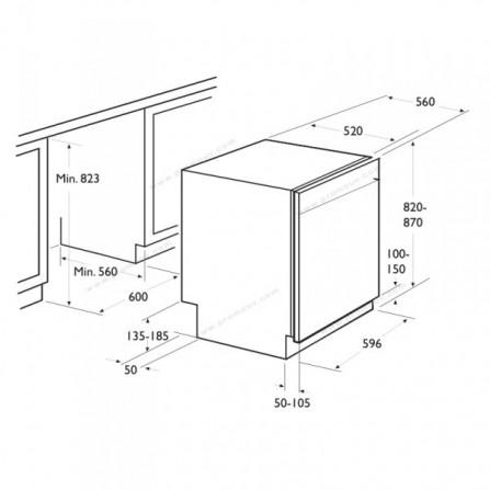 Lave Vaisselle Focus 12 Couverts Inox  (F500X)