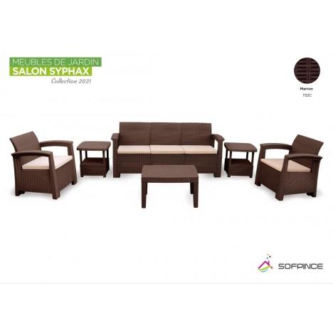 Salon Syphax Collection 2021 - Pack Confort 5 Places - Sofpince - Marron (732C)