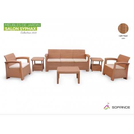Salon Syphax Collection 2021 - Pack Confort 5 Places - Sofpince - Light Taupe (LB01)