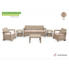 Salon Syphax Collection 2021 - Pack Confort 5 Places - Sofpince - Grège (402C)