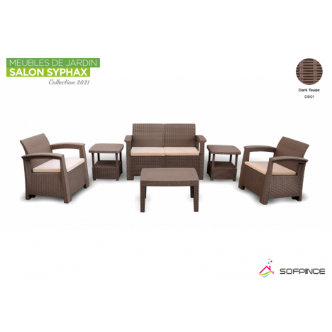 Salon Syphax Collection 2021 - Pack Confort 4 Places - Sofpince - Dark Taupe (DB01)