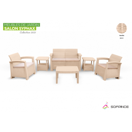 Salon Syphax Collection 2021 - Pack Confort 4 Places - Sofpince - Vanille (BEO1)