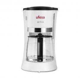 Cafetière Filtre UFESA - 680 W - 2 Tasses - Blanc (CG7123 activa)