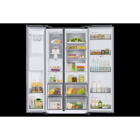 Réfrigérateur SAMSUNG -Side By Side SAMSUNG 2 Portes + Distributeur d'eau 680L Silver (RS68N8820SL)