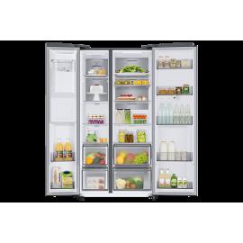 Réfrigérateur SAMSUNG 680L Side By Side 2 Portes + Distributeur d'eau Silver (RS68N8820SL)