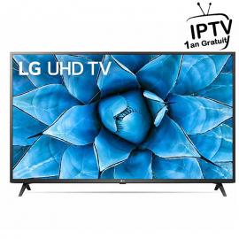 """Téléviseur LG 50"""" 4K SMART HDR + Récepteur Intégré (50UN7340PVC.AFTE)+ ABON IPTV 1AN"""