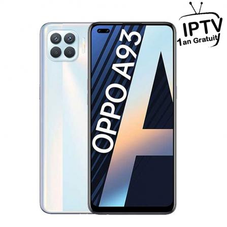Smartphone OPPO A93 - Blanc + Abon IPTV 1 an (BU-OPPO-A93-WHITE)