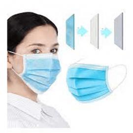 Pack de 50 masque filtrant - 3 Plis avec élastiques - Bavette chirurgicale (FaceMask-50)