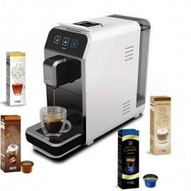 Machine à Café CAFFITALY Luna S32 + 20 Capsules Gratuit - Blanc (Luna-S32-Blanc)