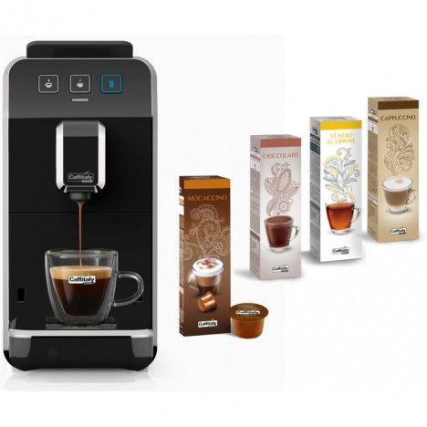 Machine à Café CAFFITALY Luna S32 + 20 Capsules Gratuit - Noir (Luna-S32-Noir)