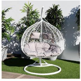 Balançoire de jardin relax blanc/gris (B.G)