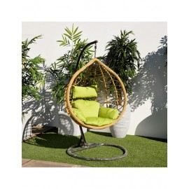 Balançoire de jardin bulle nature/vert (N.V)