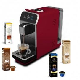 Machine à Café CAFFITALY Luna S32 + 20 Capsules Gratuit - Rouge (Luna-S32-Rouge)