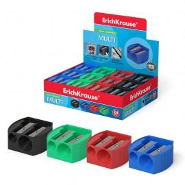 Taille-crayon en plastique double trou Erich Krause® Multi couleur (38575)