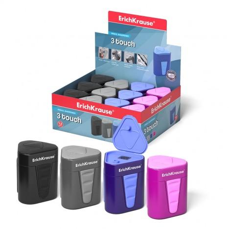 Taille Crayon en plastique ErichKrause® 3-Touch avec récipient et couvercle (33615)