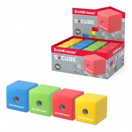 Taille Crayon en plastique ErichKrause® S-Cube avec un récipient (50141)