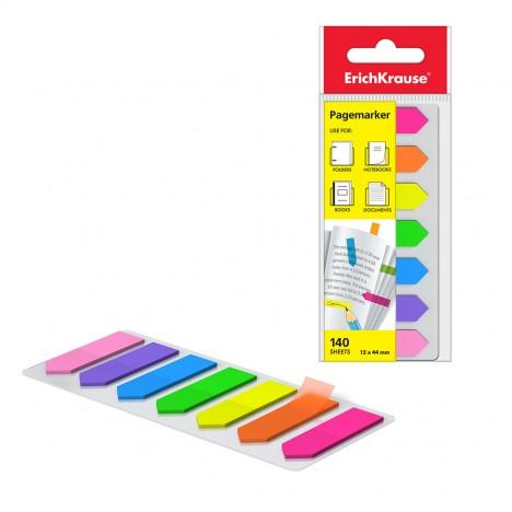 Stick-Note ErichKrause® Neon Arrows, 12x44 mm, 140 feuilles, 7 couleurs (31179)
