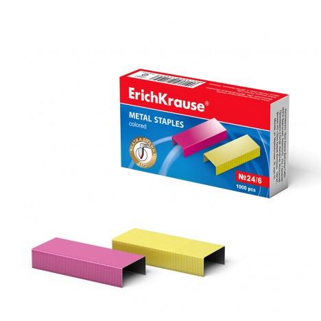 Agrafes №24/6 ErichKrause® colorées (7145)