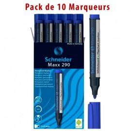 Pack de 10 Marqueur SCHNEIDER Tableau Maxx 290 - bleu (PCK500203412900BR)