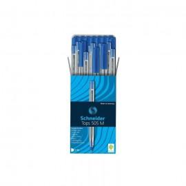 Pack de 50 Stylos SCHNEIDER à Bille Tops 505 M - Bleu (BU-500203415060)