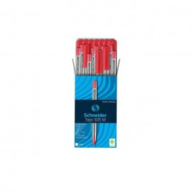 Pack de 50 Stylos SCHNEIDER à Bille Tops 505 M - Rouge (BU-500203415060R)